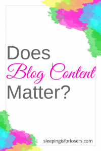 does blog content matter