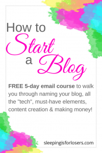 Join this FREE 5 day email course & start your own profitable blog! It's quick & easy, with step-by-step guides & content worksheets each step of the way!