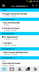Coosha calendar i phone app