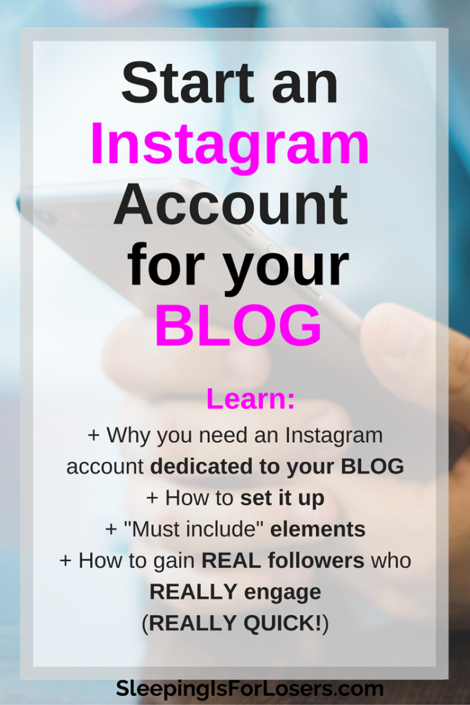 How to start an Instagram Account for your Blog