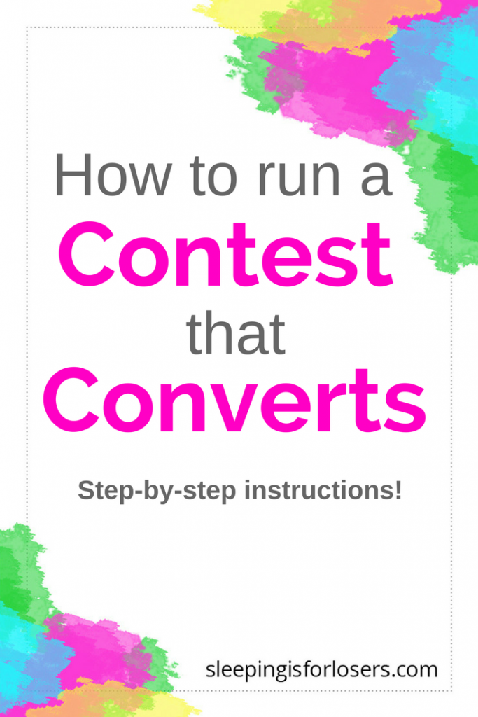 Exactly how to run a contest or giveaway from your blog/website that converts into new readers, new customers and more emails on your email list! It's easy to do if you know the right steps - click on the post to find out!