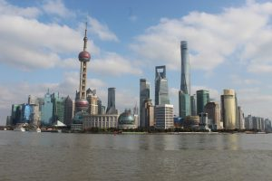 The view of the Shanghai cityscape from the shores of the Bundt - a stunning site