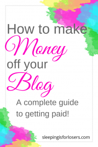Making money off your blog is not just OK, it's something you SHOULD be doing! But it's still a roadblock for so many bloggers. This post will show you exactly HOW you can make money off your blog, where to start if you are new to monetization, and why making money off your blog is not just good...it's GREAT!
