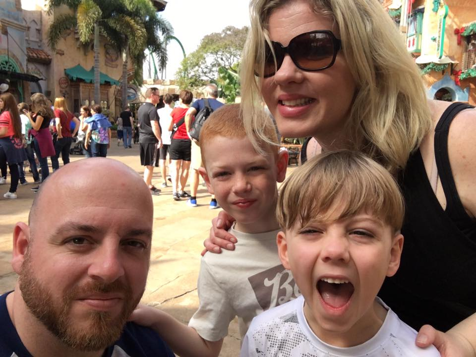 """Sleeping Is For Losers"" Universal Orlando family picture"