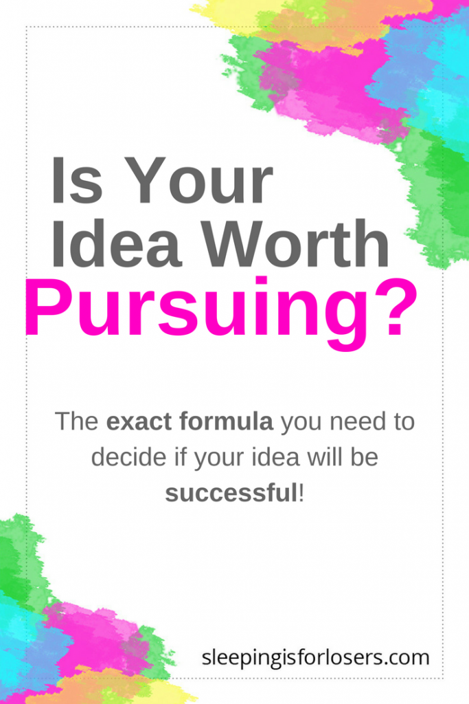 How do you know that your idea is worth pursing in your blog or online business? Click to find out my exact process for qualifying an idea before pursuing it!