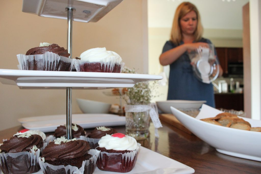 Serve a variety of gourmet cupcakes to cap off the perfect afternoon bridal shower.
