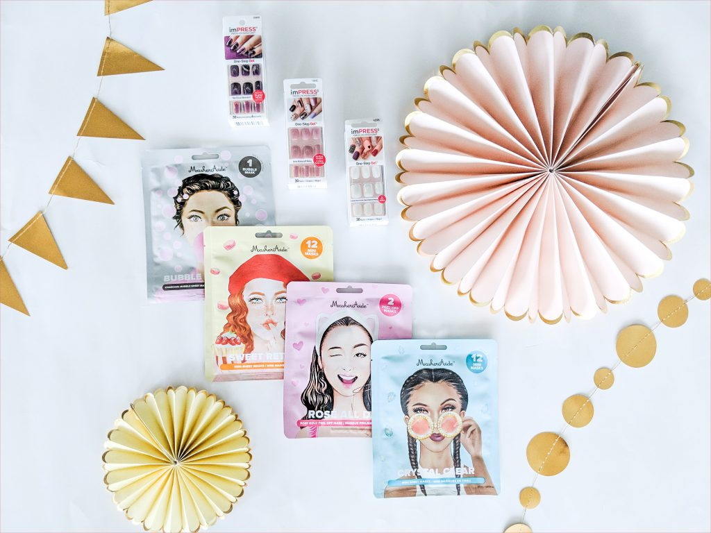 Maskeraide masks and Impress Nails Girl's Night In