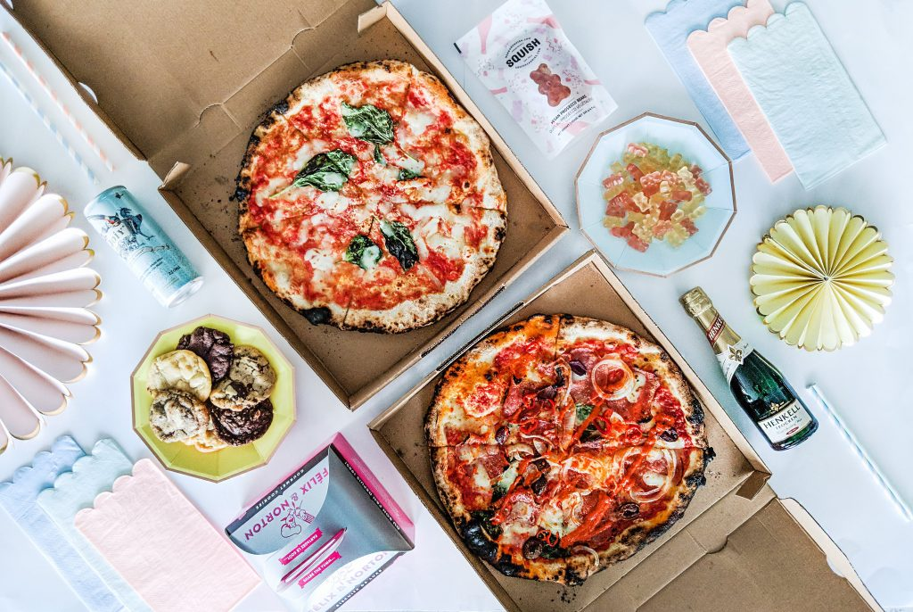 Girl's Night In Food from Foodora and Felix & Norton
